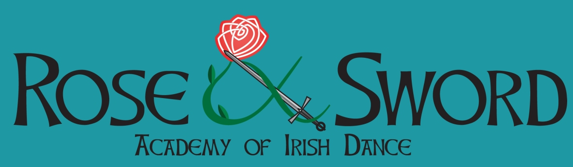 Rose and Sword Academy of Irish Dance Logo