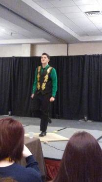 A Rose and Sword student dancing at his talent show
