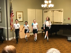 Beginner Irish dancers