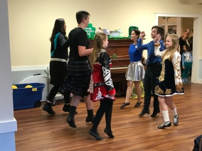 Irish ceili dancing